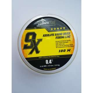 DuraKing 9X Absolute Round Braid Fishing Line #0.4
